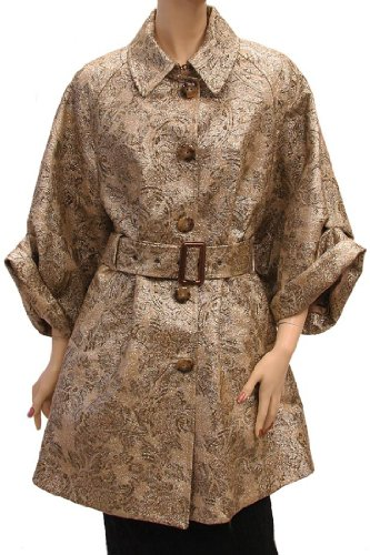 D&G Womens Jacket Coat Gold Lamb