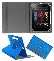 Acm Designer Rotating Case For Amazon Kindle Fire Hd 8.9 Stand Cover Dark Blue