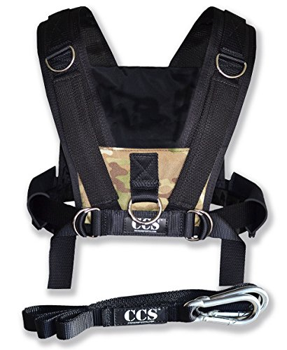 CCS Camo Sled Harness with Pull Strap (Weight Sled Shoulder Harness compare prices)