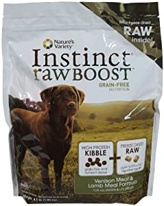 Instinct Raw Boost Grain-Free Venison Meal & Lamb Meal Formula Dry Dog Food by Nature's Variety, 4.1-Pound Bag
