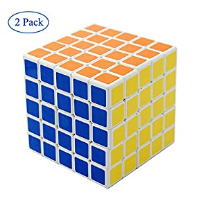 Finegood Shengshou 5x5x5 Puzzle Cube Black (2 pack) with cube bag