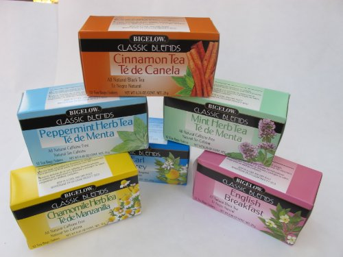 Enjoy 6 Boxes (72 Tea Bags) Of All Natural Classic Blends Of Bigelow Teas