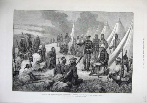 1879 Zulu War General Newdigate Spy Landman'S Drift Art