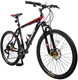 "Merax® Finiss 26"" Aluminum 21 Speed Mountain Bike with Disc Brakes"