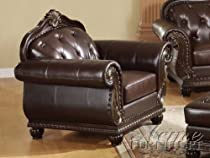 Big Sale ACME 15032 Top Grain Leather Chair, Dark Brown Leather