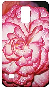 Peony Flower Dew Back Cover Case for Samsung Galaxy S5