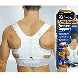 Size L Power Magnetic Posture Support Corrector Back Brace Belt DDStore