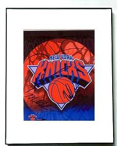 NEW YORK KNICKS Autographed Signed KNICKS LOGO Photo - Autographed NBA Photos by Sports+Memorabilia
