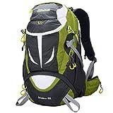 Altosy Hiking Daypack Outdoor Waterproof Travel Backpacks Blue/orange 8278 (Green, 40lbs)