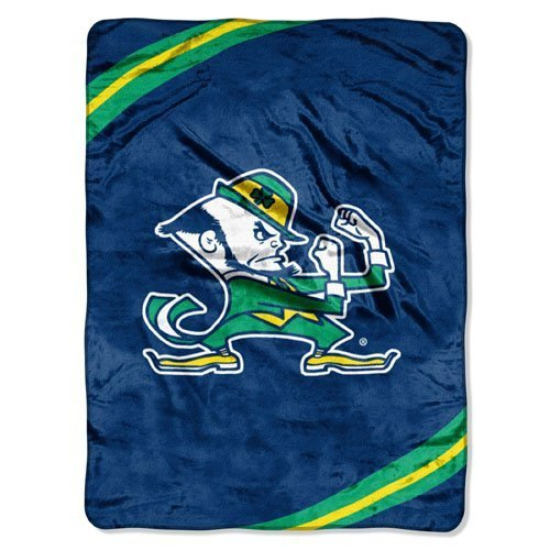 Ncaa Notre Dame Fighting Irish Force Royal Plush Raschel Throw Blanket, 60X80-Inch front-216422