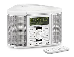 iDock II DAB and FM Stereo Clock Radio with Dock for iPod/iPhone in White