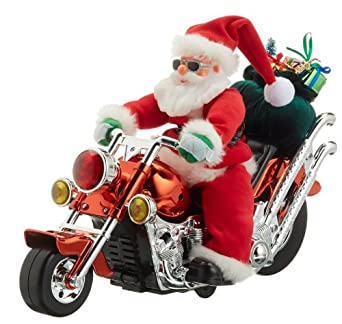 hellum 599923 nikolaus auf motorrad singt und bewegt sich. Black Bedroom Furniture Sets. Home Design Ideas