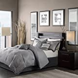 Madison Park Quinn 7 Piece Comforter Set - Grey - Queen