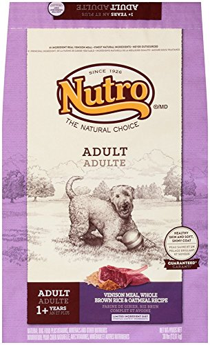 NUTRO NATURAL CHOICE Adult Venison Meal, Whole Brown Rice and Oatmeal Recipe Dog Food 30 Pounds (Nutro Natural Choice Dog Treats compare prices)