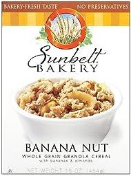 Sunbelt Bakery® Banana Nut Whole Grain Granola Cereal [3 Pack]