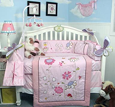Nice SoHo Happy Fairy World Baby Crib Nursery Bedding Set pcs included Diaper Bag Set