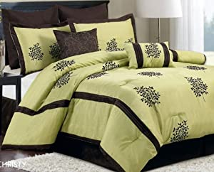 Christy 8-Piece Comforter Set, Queen, Sabrn
