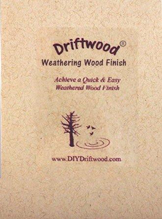 DRIFTWOOD WEATHERING WOOD FINISH - Creates a natural Driftwood Weathered Wood Finish in minutes