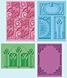 Cuttlebug Embossing Folders 4/Pkg-Art Deco (2) 5''X7'' & (2) A2