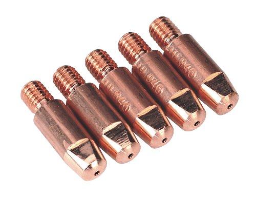 Sealey MIG923 Contact Tip Aluminium TB25/36, 1.6 mm, Set of 5