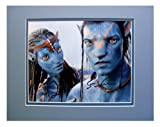 Autographed, Matted Photo of Sam Worthington, As Jake Sully, and Zoe Saldana, As Neytiri, From the Film, Avatar