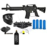 Tippmann US Army Alpha Black Elite Tactical Paintball Gun Player Package