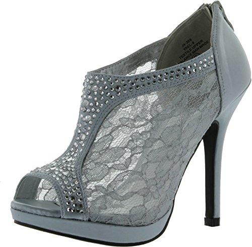 TRENDS-SNJ-Womens-Lace-Bridal-High-Heel-Platform-Peep-Toe-Shootie