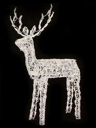 Christmas garden decorations santa deer nativity sets for Animated lighted reindeer christmas decoration