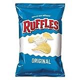 Ruffles Ridged Potato Chips, Regular, 1.5-Ounce Large Single Serve Bags (Pack of 64)