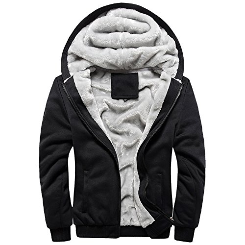 URBANFIND Men's Regular Fit Hooded Coat Fleece Outerwear Jacket