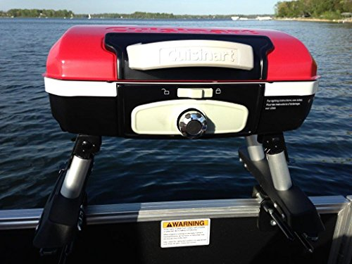 Cuisinart Grill Modified For Pontoon Boat With Arnall'S Universal Grill Bracket Set