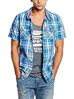 Superdry Camisa Hombre (Azul Claro / Blanco)