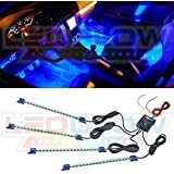 LEDGlow® 4pc. Blue LED Interior Underdash Lighting Kit