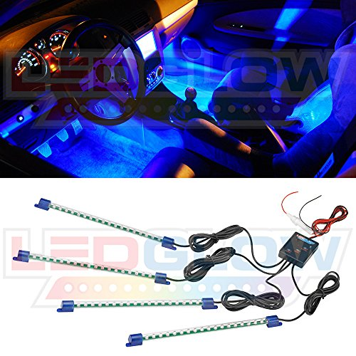 4pc. Blue LED Interior Underdash Lighting Kit image