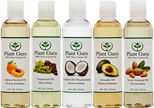 Find Bargain 100% Pure Carrier Oil VARIETY-5 PACK- 4 Ounce Bottles--Apricot Kernel Oil, Fractionated...