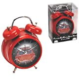A Novelty Fun Double Bell Alarm Clock - Red Sports Car With Engine Sound Alarm