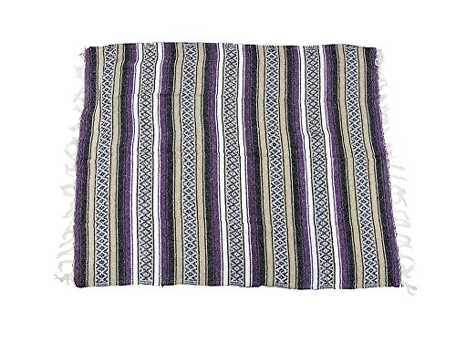 Woven Mexican Blanket Beige Stripes/Assorted Colors front-1081034