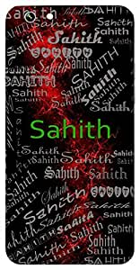 Sahith (Literature) Name & Sign Printed All over customize & Personalized!! Protective back cover for your Smart Phone : Samsung Galaxy Note-4