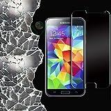 Pellicola trasparente ultra sottile 0.3mm in vetro temprato anti urto e graffi per display di Samsung Galaxy S5...