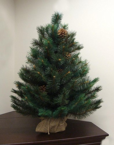 3-x-23-Royal-Oregon-Long-Needle-Pine-Artificial-Christmas-Tree-in-Burlap-Base-Unlit