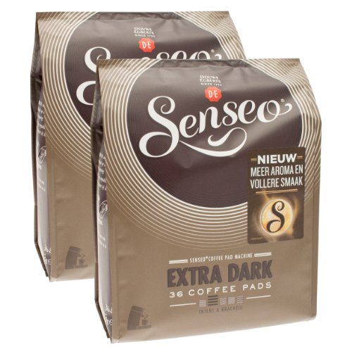 Purchase Senseo Extra Dark / Extra Strong, Design, Pack of 2, 2 x 36 Coffee Pods by Douwe Egberts