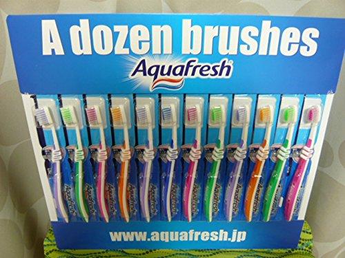 Aquafresh アクアフレッシュ 歯ブラシ 12本セット ランダムカラー