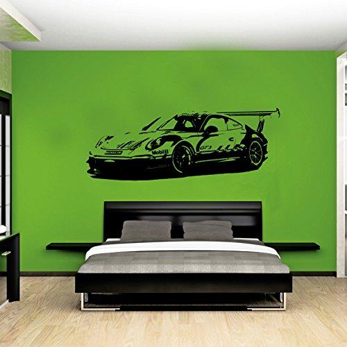 porsche-911-gt3-xl-auto-race-la-pulizia-senza-wall-art-decal-sticker-bianco-white-xtra-large-156cm-w