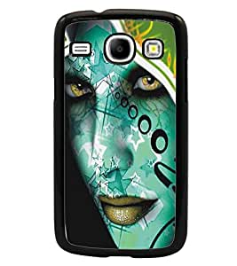 PrintDhaba Side Look D-5454 Back Case Cover for SAMSUNG GALAXY CORE i8262 (Multi-Coloured)