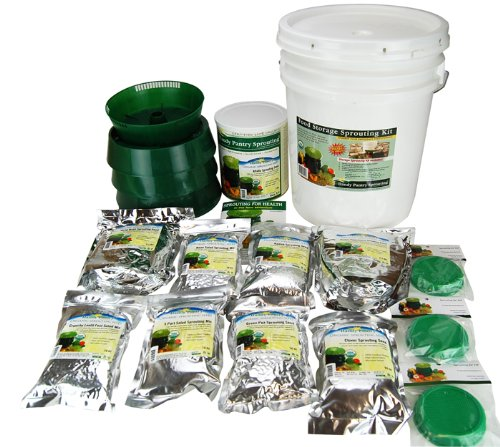 Food Storage Sprouting Kit - Emergency Preparedness Year Supply of Sprouts - 16 Lbs of Sprout Seeds, Sprouters, Instructions & More - Sealed In a 5 Gal Bucket.