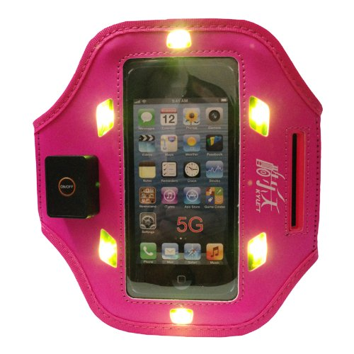 Red Plum New Elastic Gym Running Sport Iphone5 Led Armband Case Cover Skin Iphone5S Armband Compatible With Apple Iphone5 5G Armband Iphone5C Armband