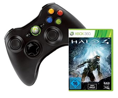 Xbox 360 Wireless Controller + Halo 4