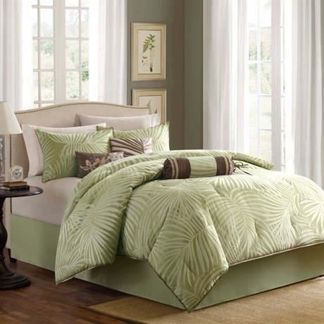Madison Park Freeport 7 Piece Comforter Set - Green - Cal.King front-900860