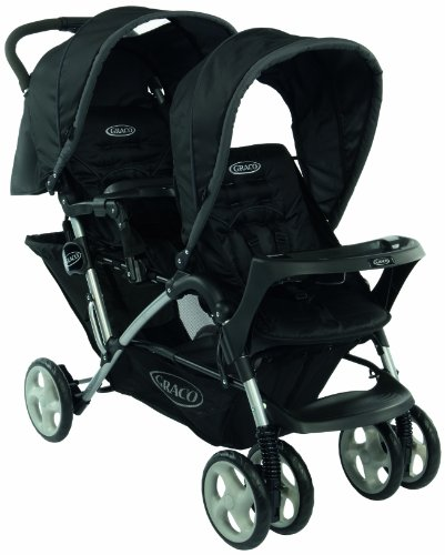 Graco Stadium Duo Tandem Pushchair (Black, 0 - 36 Months)