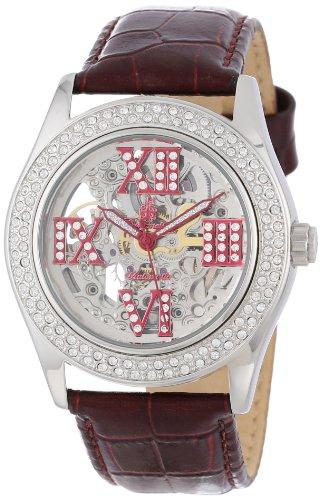 Burgmeister Ravenna BM140-100C - Reloj de mujer automático, correa de piel color rojo